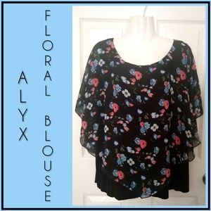 Alyx Tops - Alyx Floral Blouse